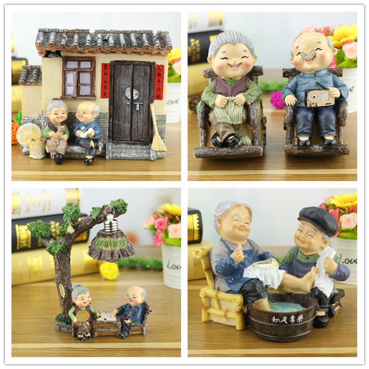 Creative mother's Day Father's Day gift Resin Ornaments Home Decor Miniature Figurines Wedding decoration