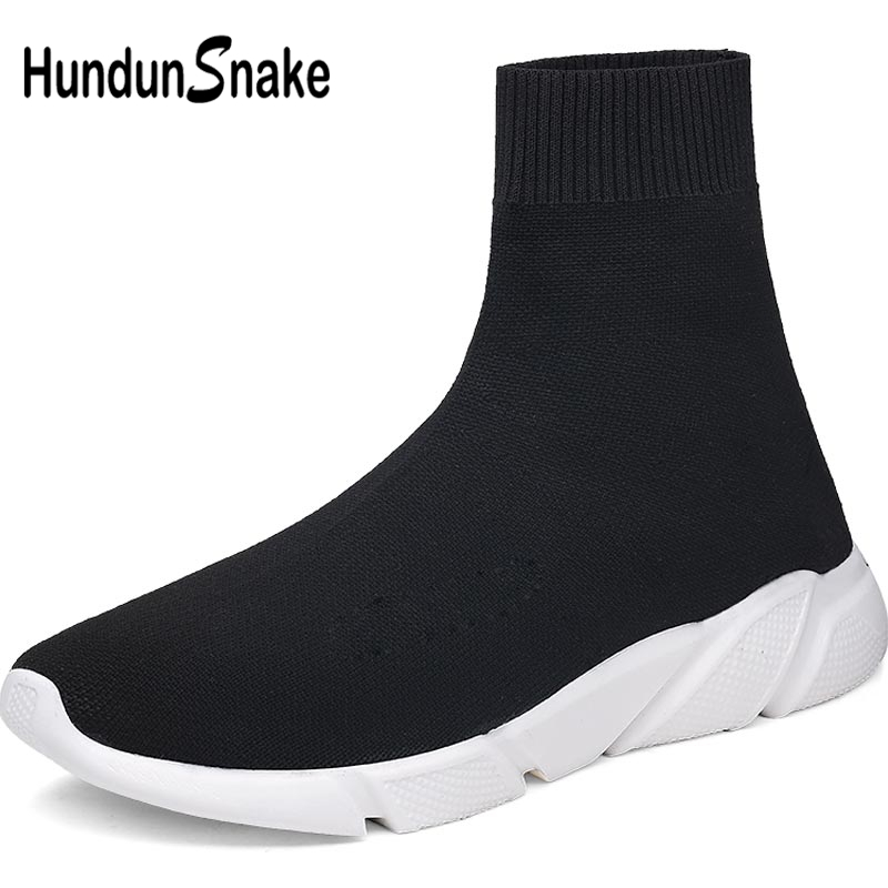 Hundunsnake Summer Socks Sneakers Women Running Shoes For Women Men Sport Shoes Woman High Top Sports Shoes Female Black A-037
