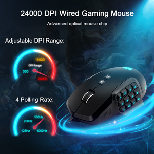 Image 5 - Rocketek USB wired Gaming Mouse 24000 DPI 16 buttons RGB  laser programmable game mice backlight ergonomic for laptop computer