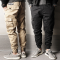 Spring and Autumn New Arrival Men's Casual Jogger Pants Male Tooling Harem Pants Straight Ankle Length Trousers Plus Size 4XL