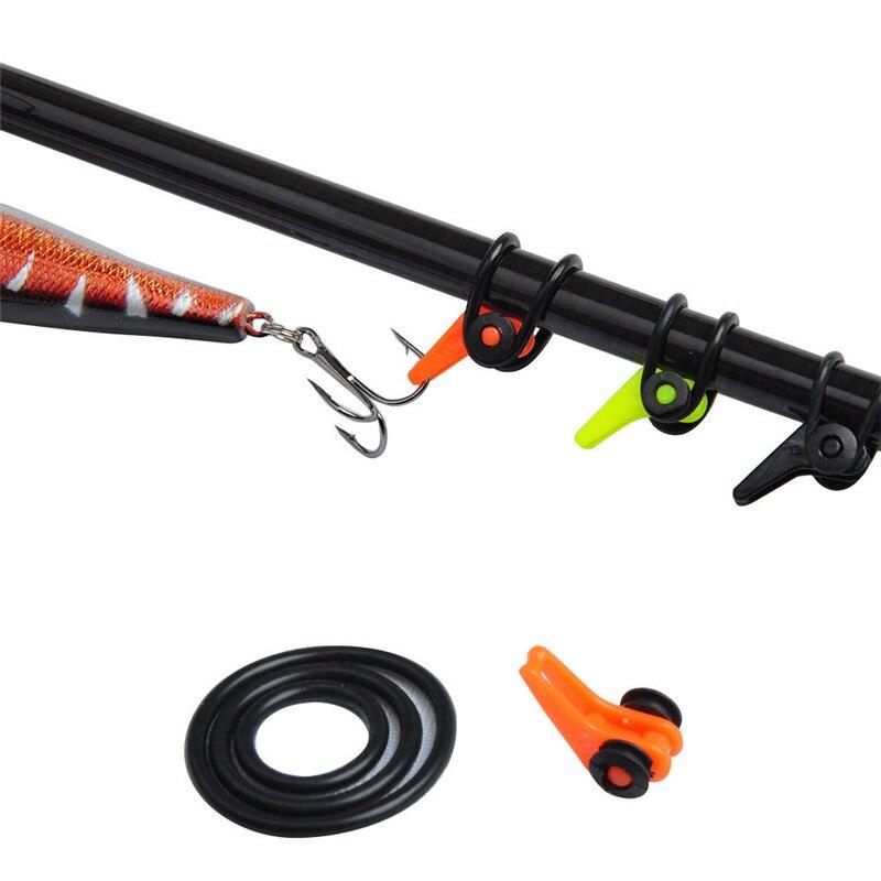 10pcs lot fishing rod spoon bait treble holder hang hook for Fishing rod hangers