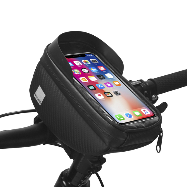 Water-resistant Touchscreen Cycling Bicycle Head Tube Handlebar 6.5″ Mobile Phone Bike Bag Case Holder Pannier