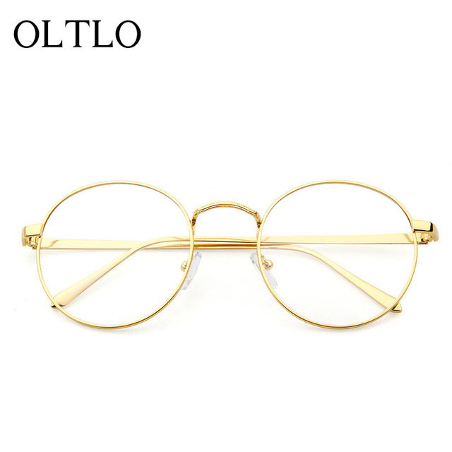 7a3a3c17c60 OLTLO Vintage Glasses Fashion Frame Brand Designer Men Women Woman Optics  Classic Round Eyeglasses Cheap Clear Transparent Lens-in Eyewear Frames  from Men s ...