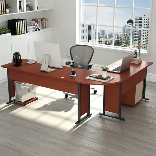 Tribesigns Large Modern L Shaped Desk 83 Wood Amp Metal