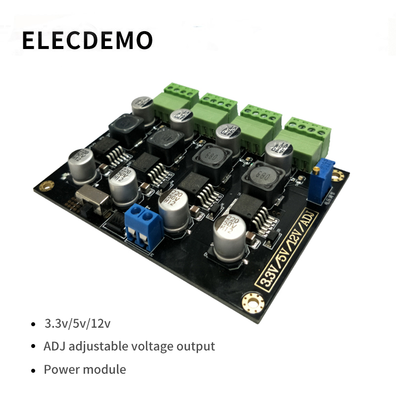 LM2596 module  multi channel switching power supply 3.3V/5V/12V/ADJ adjustable output DC DC step down power supply module-in Demo Board Accessories from Computer & Office