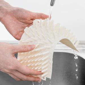 Image 4 - Щетка Xiaomi для мытья питомцев, безопасный и мягкий силикон, легко чистится, ведро для мытья кошек и собак, для дома