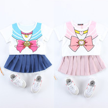 2017 Summer Girls Skirt Set font b Sailor b font font b Moon b font Chibi