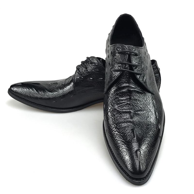 Genuino brown Cocodrilo Reino Cuero Verano Zapatos 2019 Black Nuevo De Hombre Estilo Vestir Para Cómodos Moda Lujo Unido Grimentin Negro H7qgWA