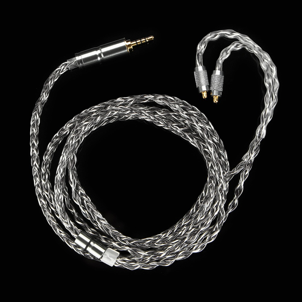 BGVP 2 5mm 6N OCC Silver Plated MMCX Balancing Cable for BGVP DM6 DMG Audiophile IEM