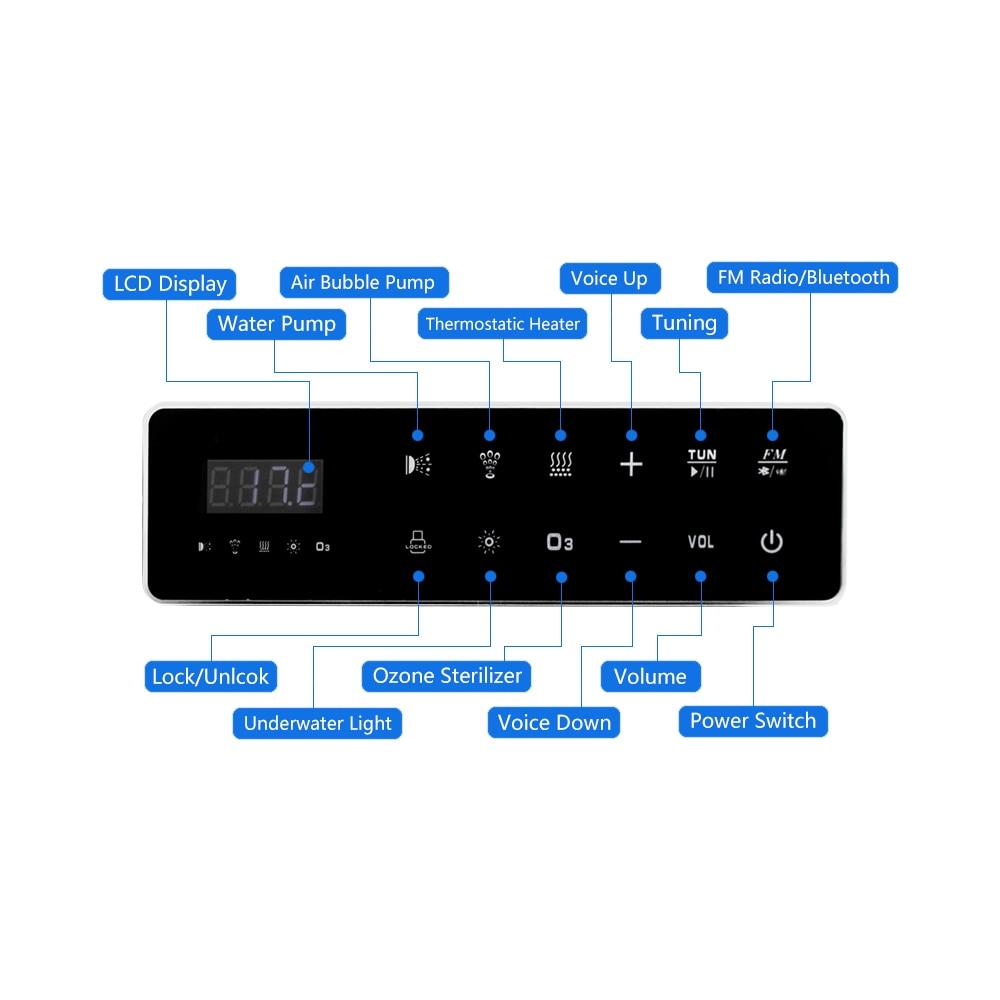 Painel de controle digital da c.a. 110 v/220 v com tela de toque lcd spa combinação bolha ar bomba água massagem banheira controlador kits-2