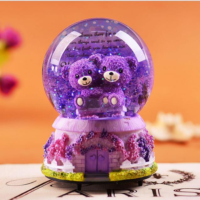 Bola Kristal Kotak Musik Hot Sale Kreatif Hadiah Ulang Tahun Untuk