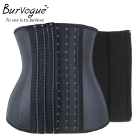 Burvogue 11 Steel Bones Waist Corset Zipper Buckle Waist Trainer Women Corset Slimming Latex Waist Training