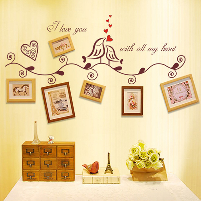 Aliexpress.com : Buy English Letters Birds Leaves Photo Frames ...