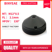 BINYEAE HD 2MP Мини объектива 2,1 мм M12 Пинхол объектив F2.0 1/4