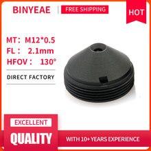 "BINYEAE HD 2MP Mini Lens 2.1mm M12 Pinhole Lens F2.0 1/4"" Image Sensor for CCTV Security Cameras"