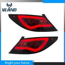 Светодиодные полосы задние лампы для hyundai Accent Verna Solaris задние фонари 2010-2013 красный и дымчатый линзы