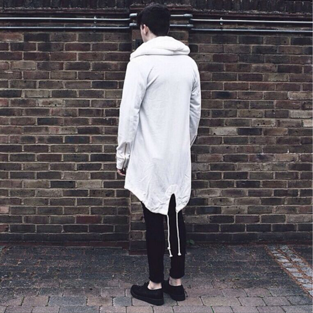 10329af23c Mens Hoodies Male Long Sleeve Shawl Outwear Streetwear Sweatshirts Black  Cloak Hooded Boys Plus Long Hoodie 0971-in Hoodies   Sweatshirts from Men s  ...