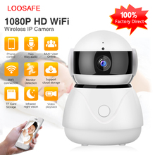 LOOSAFE 2MP IP Camera Wireless WIFI Video Surveillance Home Security Mini 180 Degree Cam