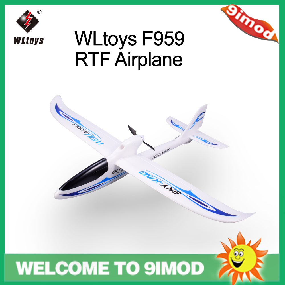 WLtoys F959 Sky-king 2.4G 3CH RC RTF Airplane Aircraft Fixed Wing Plane Blue EU