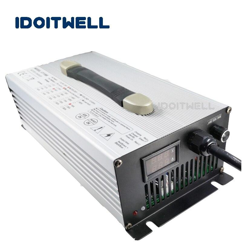 Personalizado 1200 W de corriente ajustable cargador de batería 48 V 19A/16A/12A 36 V 20A/15A/ 10A para ácido de plomo de litio lifepo4 Paquete de batería
