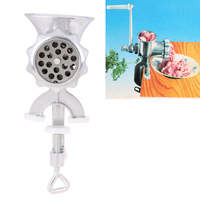 Cast Iron Manual Meat Grinder Mincer Table Hand Crank Tool For Kitchen
