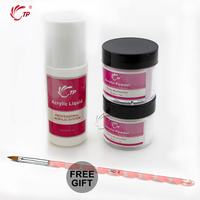TP Marca Nail Art Polvo de Acrílico Kits de Uñas Arte de Acrílico del Polvo de Polímero De Color Rosa Claro + Líquido de Acrílico Set Kit