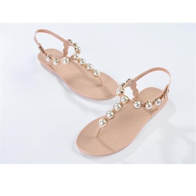 Women Shoes Women's flip-flop shoes rc t flip flops rhinestone pearl sandals female flat women's shoes flip