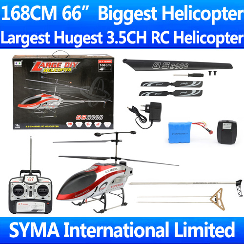 2015 Biggest GT Model QS8008 1 3 5ch RC helicopter huge 168cm very stable flight Ready