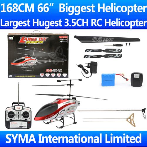 2015 Mayor GT Modelo QS8008-1 3.5ch RC helicóptero enorme 168 cm muy vuelo estable Listo para Volar RTF supernova venta VS QS8008 U12