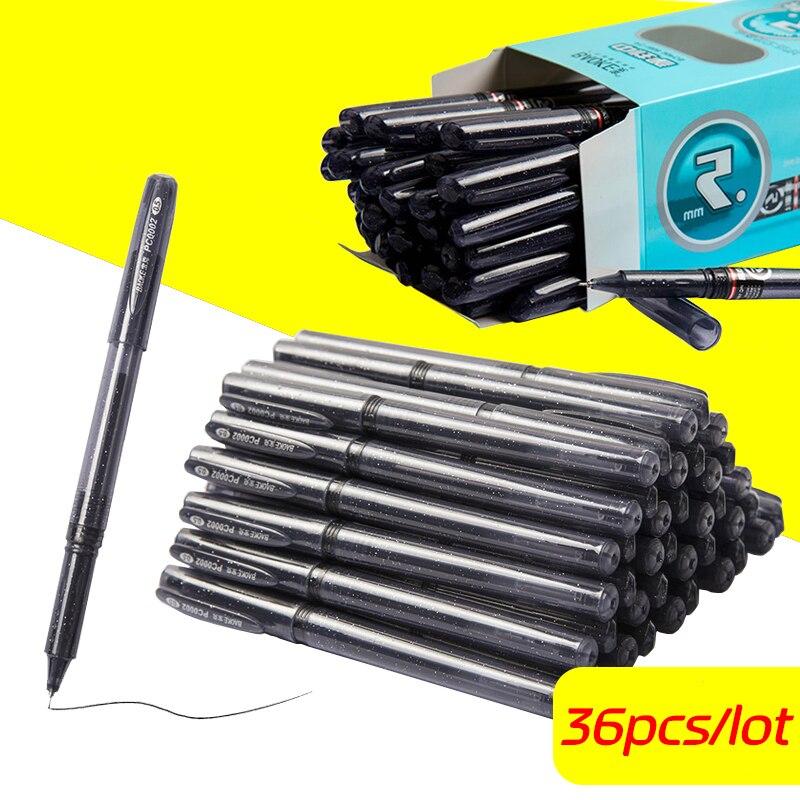 High Quality 0 5mm 36pcs Lot Gel Pen Neutral Pen Sketch Drawing Black Pen For Office