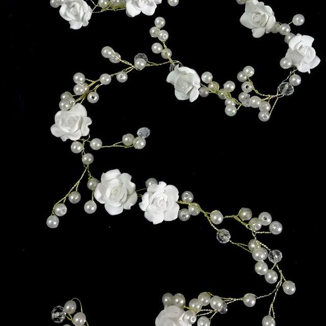 Extra Long Wedding Hair Vine Beaded Wedding Headpiece with Pearls  Rhinestones and Flowers Floral Hair Vine 00126c5b6f51