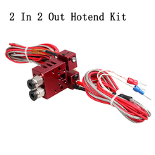 3D Printer Parts Improved Chimera for e3d 2 In 2 Out extrusion Hotend Kit with Thermistor and Cartridge Heater 0.4mm/1.75mm