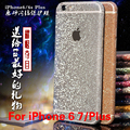 Etiqueta do telefone móvel para o iphone 6 6 plus 7 twinkling colorida protective film full body glitter bling protetor adesivo filme caso