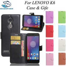 OUZIFISH high quality Lenovo K6 Case 5.0 inch Luxury PU Leather Back Cover Case For Lenovo K6 K 6 Case Flip Protective Phone Bag