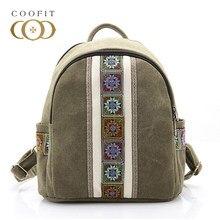 0e1ea6e0e93f Coofit мини ретро холст рюкзак для Для женщин Повседневное Национальные  Стильные рюкзаки лоскутное Цвет нежный школьный