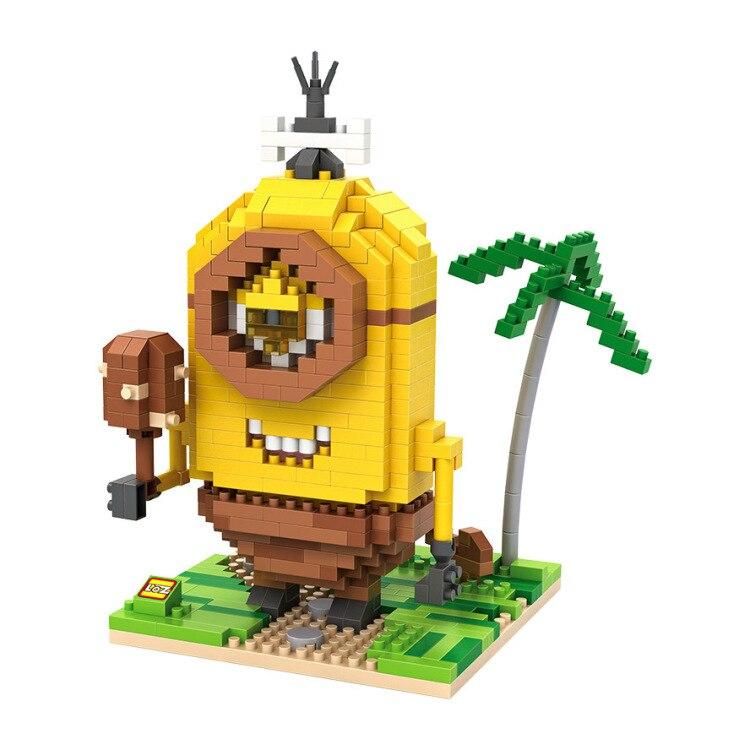 10 Styles Retail Box Loz Minions Blocks 2015 New Models Building Toy Self locking Bricks Building
