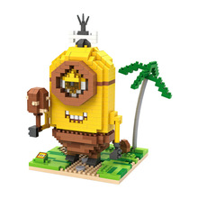10 Styles Retail Box Loz Minions Blocks 2015 New Models & Building Toy Self-locking Bricks Building Kids Intelligence Toys