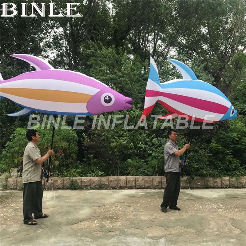 Creative performance Ocean event walking inflatable tropical fish costume cartoon for carnival parada