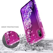For Huawei P20 / Lite Pro P30 Case Bling Sequin Glitter Diamond Hard Clear Back Cover