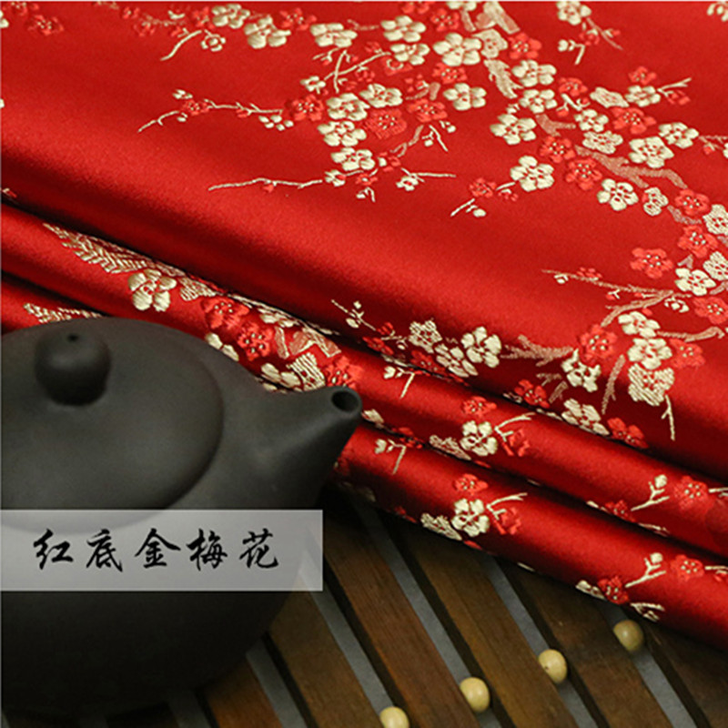 Arts,crafts & Sewing Plum Blossom Diy Fabric Imitate Silk Brocade Fabric Damask Jacquard Upholstery Furnishing Patchwork Fabric Sewing Tissue 75*50cm