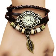 2018 Women Multilayer Braided Watches Leather Bracelet Watch