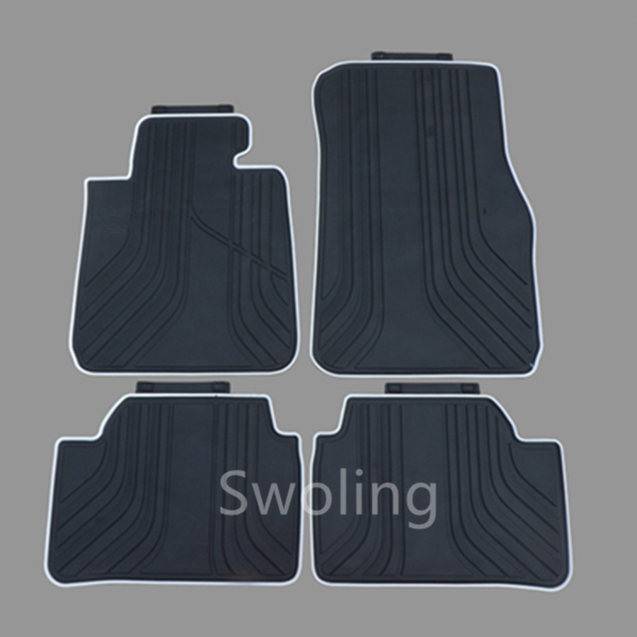 For BMW 1series 116i 118i 120i 2004-2011 High Quality Waterproof Anti Skip Latex Durable Carpets Special Rubber Car Floor Mats