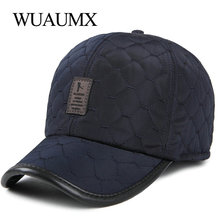Wuaumx Fall Winter Thicker Baseball Caps With Earflaps Warm Earmuffs Caps  For Men b9651055944c