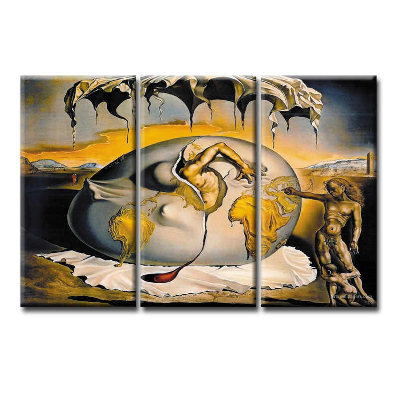 3 Pieces/set Abstract poster series Canvas Painting Living room bedroom Decoration Print Canvas Pictures Framed/Abstract (77)