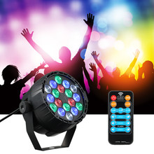 For Club DJ Show Home Party 18 LEDs RGBW Stage Light Disco Light Mini Par Lights DMX 512 Dream Color Lighting Indoor Disco Lamp(China)