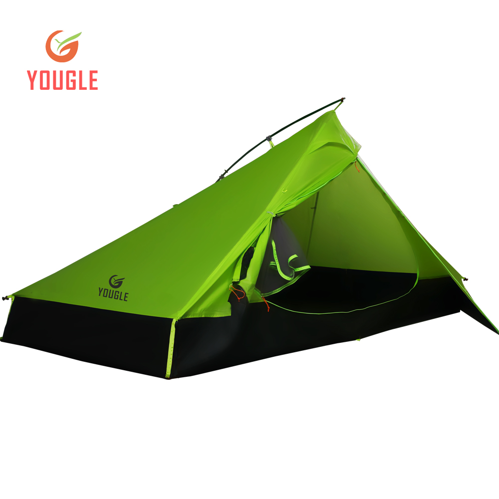 20D Une Couche 2 Hommes Deux Personne tente de randonnée 3 Saison Pour Camping Randonnée Trekking Voyager Ultra-Léger Enduit De Silicone