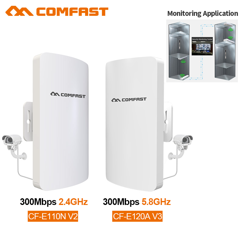 Comfast 2.4Ghz/5Ghz 300Mbps Wireless Outdoor Router CPE Bridge 1-3KM Long Range Wifi Signal Extender Access Point Nanostation