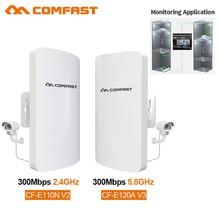 Comfast 2,4 ГГц/5 ГГц 300 Мбит/с беспроводной наружный маршрутизатор CPE мост 1-3 км длинный диапазон Wifi расширитель сигнала точка доступа наностанция