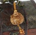 1 unid Nuevo Diseño de madera Del Coche Estilo Colgante Llavero de Regalo llaveros Llavero de Madera Tallada De Buda Amitabha