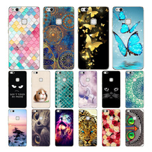 """Geruide Huawei P10 Lite Case Cover Coloful Painting Soft Silicon TPU Phone Back Cover Case For p10 lite WAS-L03T 5.2"""" Phone Case"""